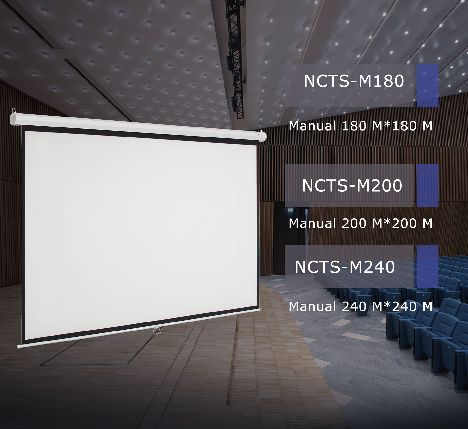 NCTS MANUAL SCREEN FOR PROJECTOR