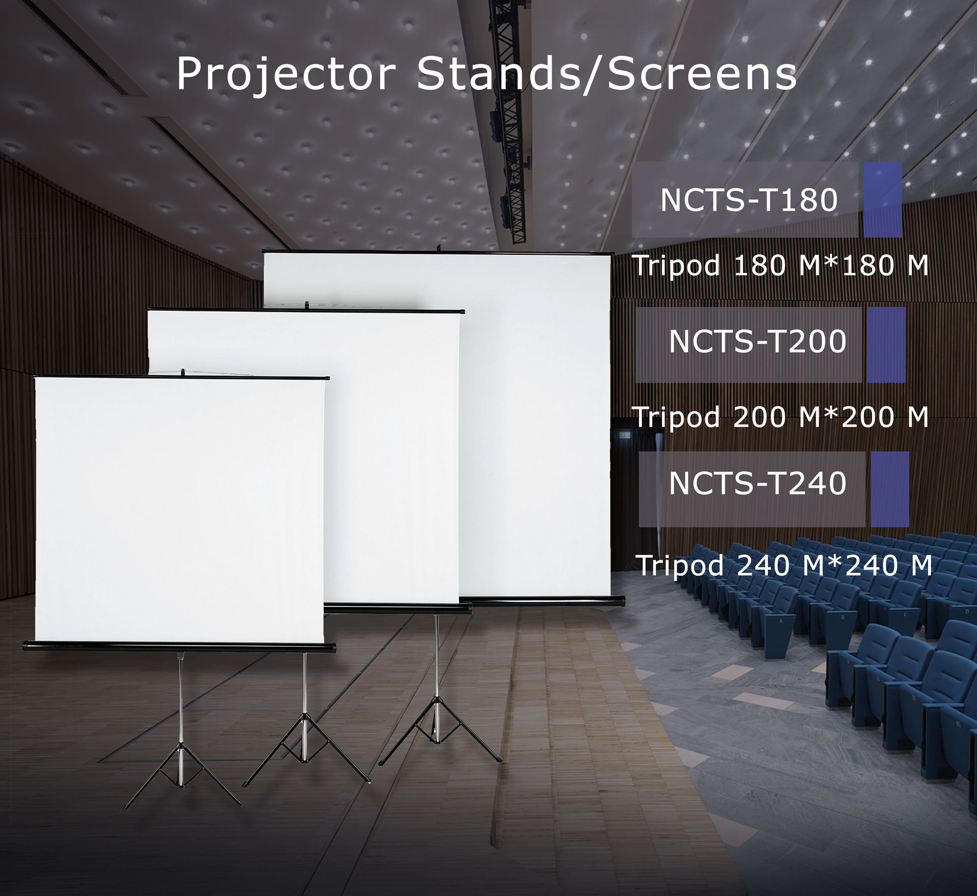 NCTS TRIPOD SCREEN FOR PROJECTOR
