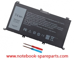 Battery for Dell Inspiron 15 7559, Inspiron I7559 11.4v 74Whr 3-Cell Primary Battery 071JF4 71JF4