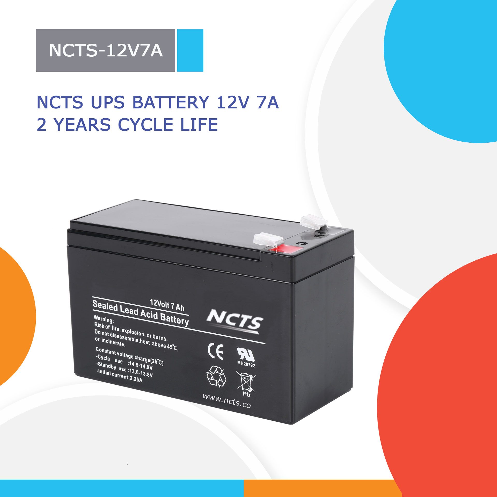 NCTS 12V 7A UPS BATTERY