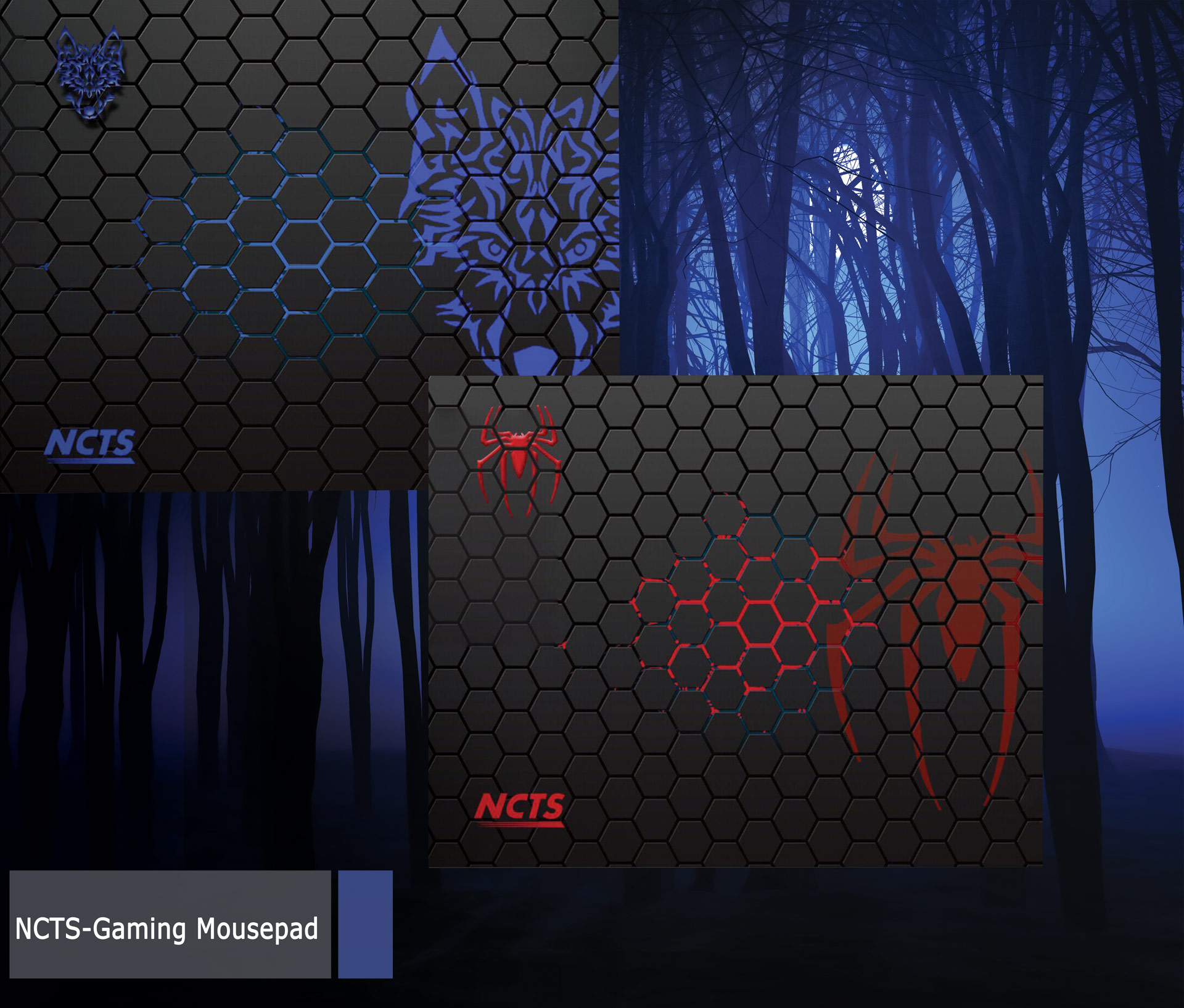 NCTS LARGE GAMING MOUSE PAD (350*440*4MM)