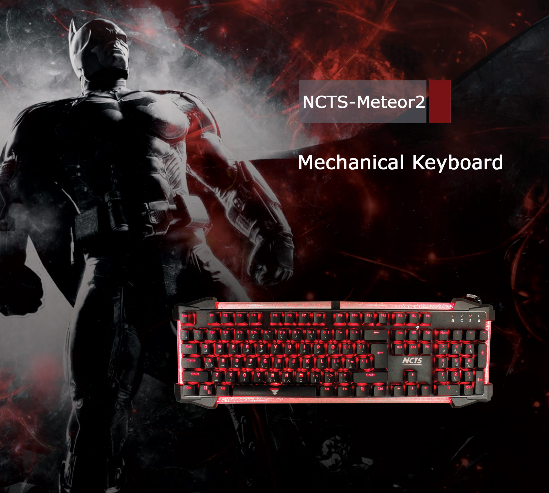KEYBOARD NCTS METEOR2 GAMING MECHANICAL RGB