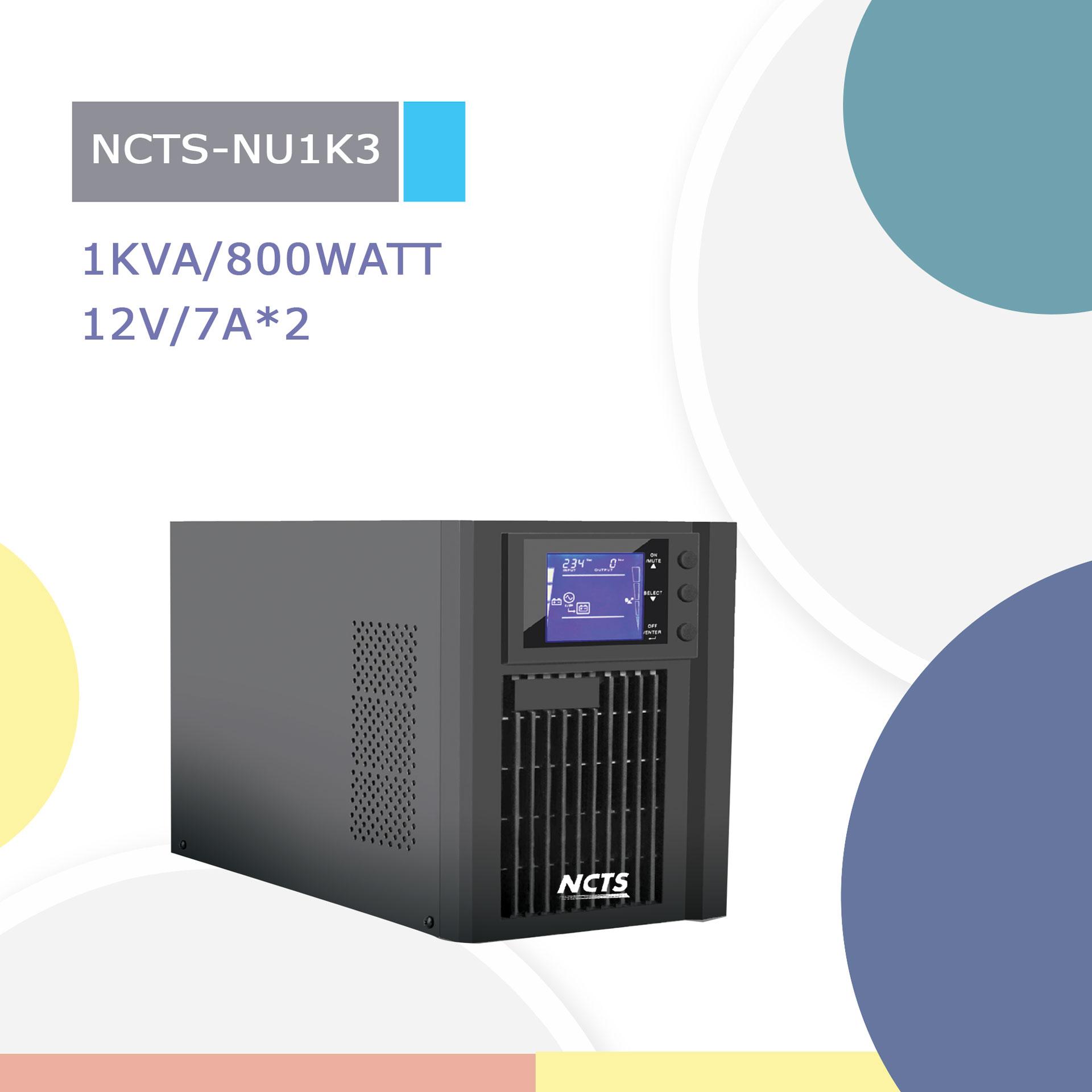 NCTS ONLINE UPS 1KVA MODEL:NCTS-NU1K2