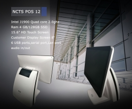 NCTS POS SYSTEM J1900//4GB//128GB    MODEL:POS12