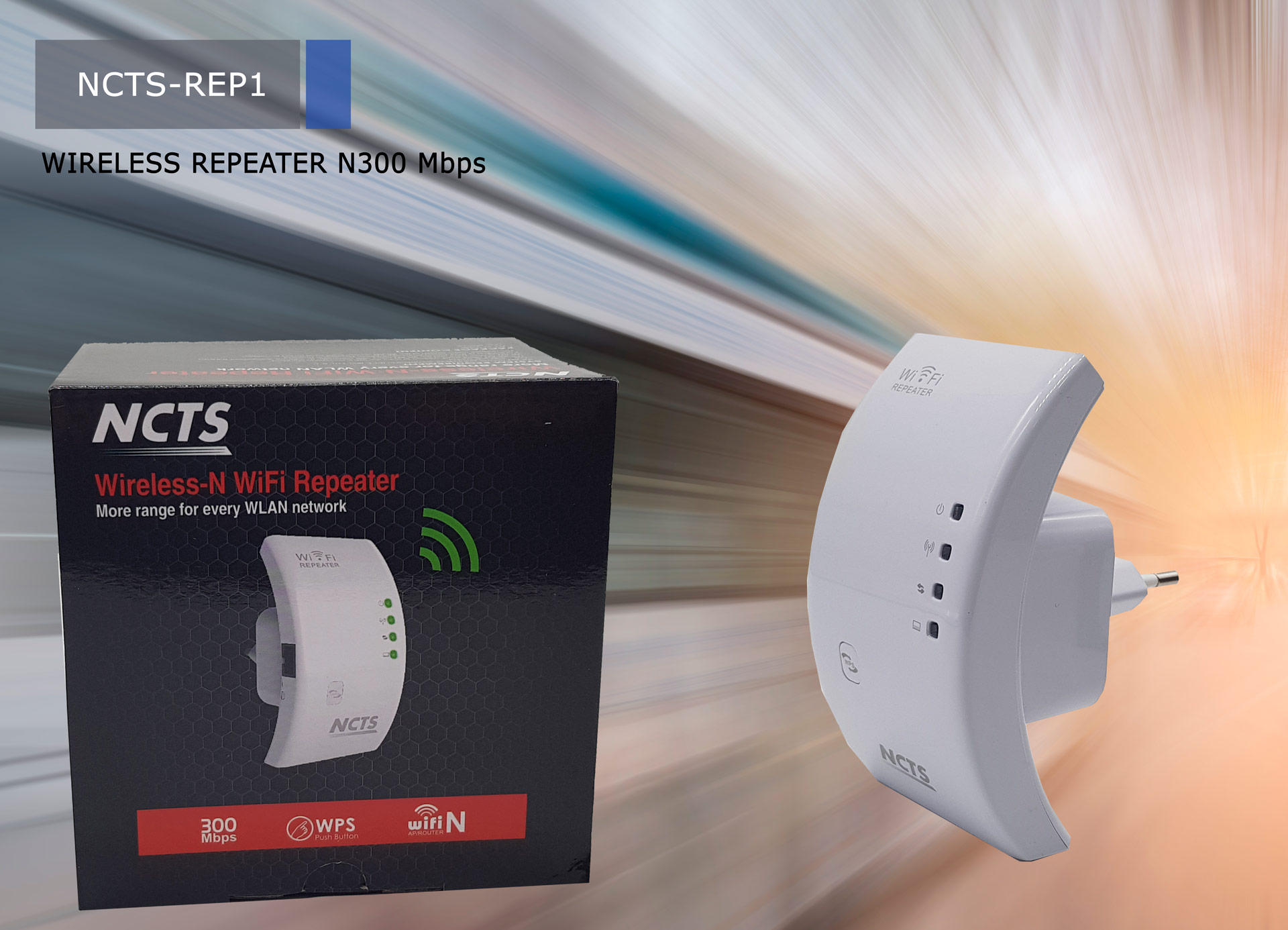 NCTS N300 WIFI  REPEATER  MODEL:REP1