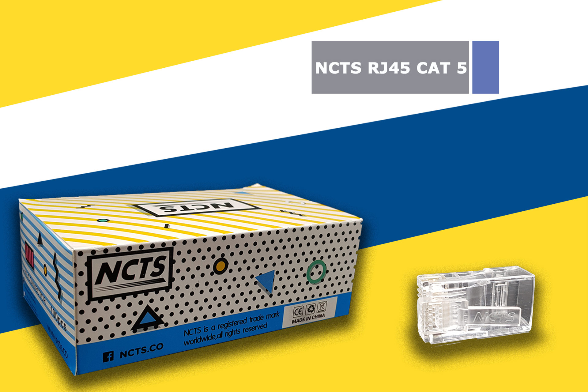 NCTS RJ45 CAT 5 BOX OF 100 HIGH QUALITY