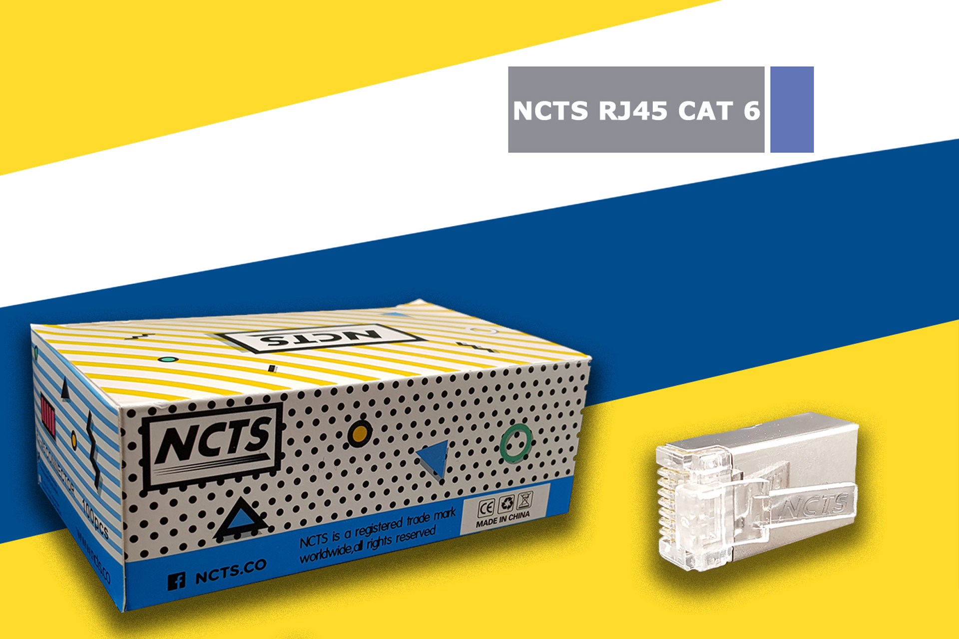 NCTS RJ45 CAT 6 BOX OF 100 HIGH QUALITY