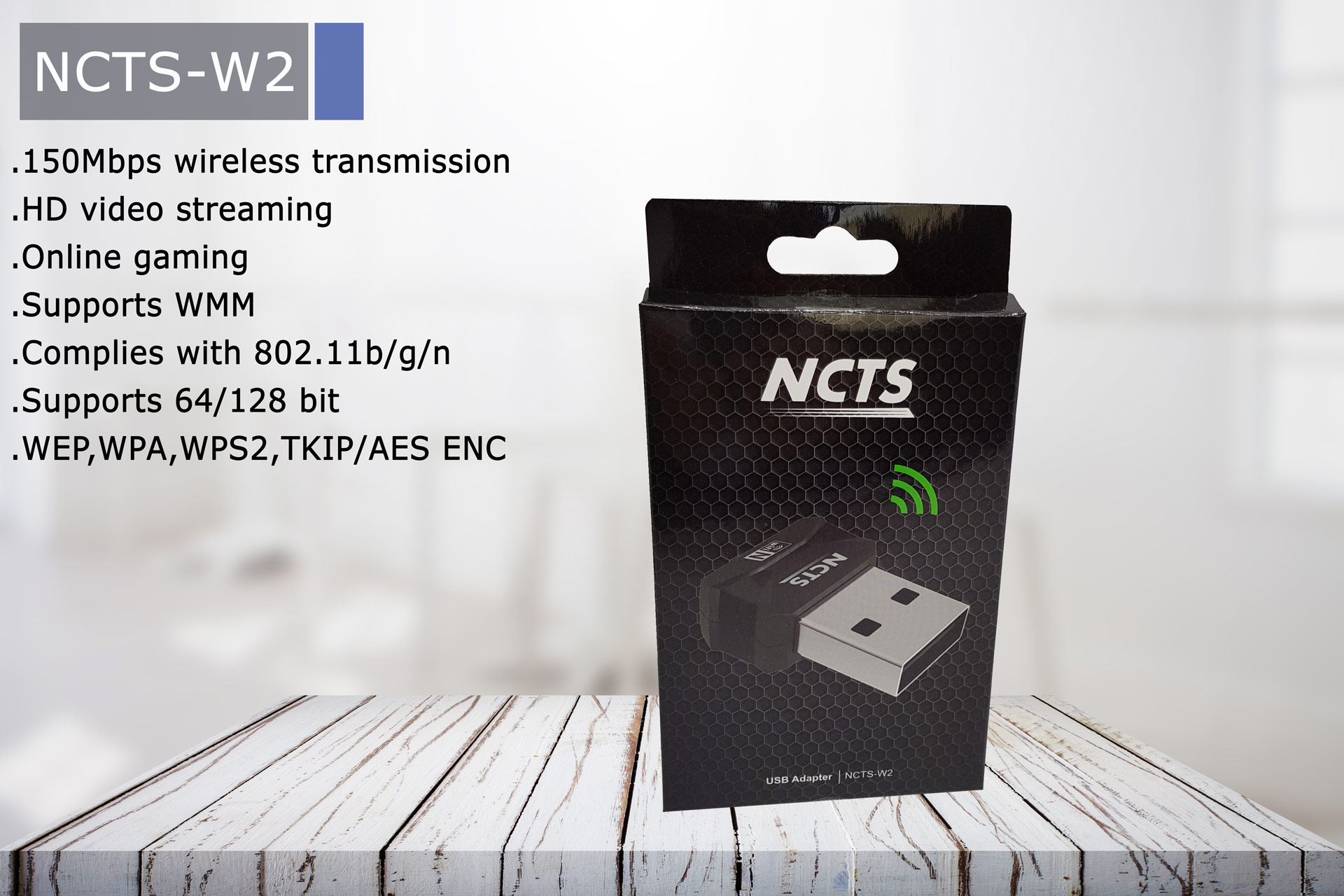 NCTS WIFI ADAPTER N150 MODEL:NCTS-W2
