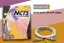 NCTS CAT5 UTP 1M,24AWG 4PR,7*8*0.12mm CCA