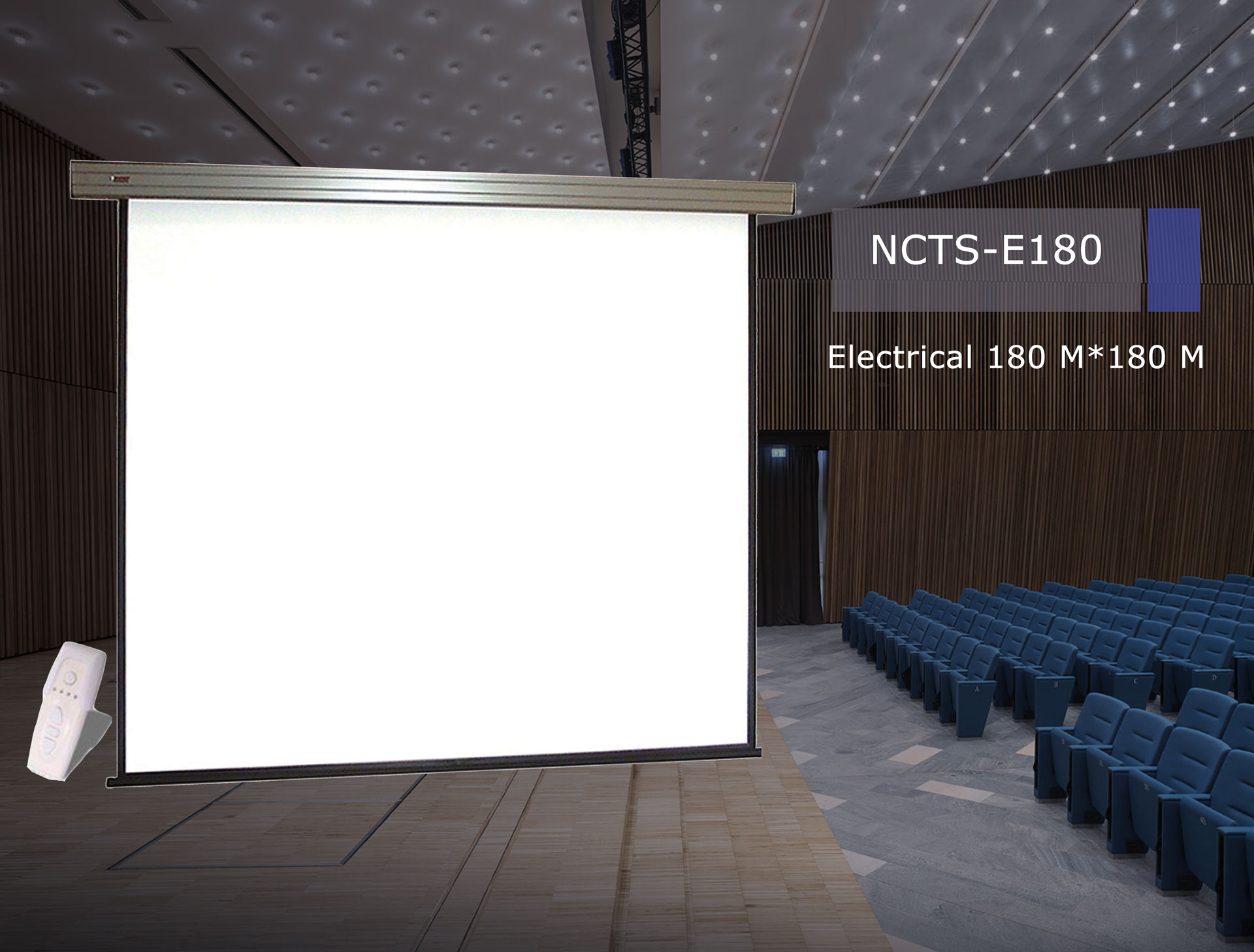.NCTS ELECTRICAL SCREEN FOR PROJECTOR 1.8M*1.8M MATTE 0.42MM WITH REMOTE