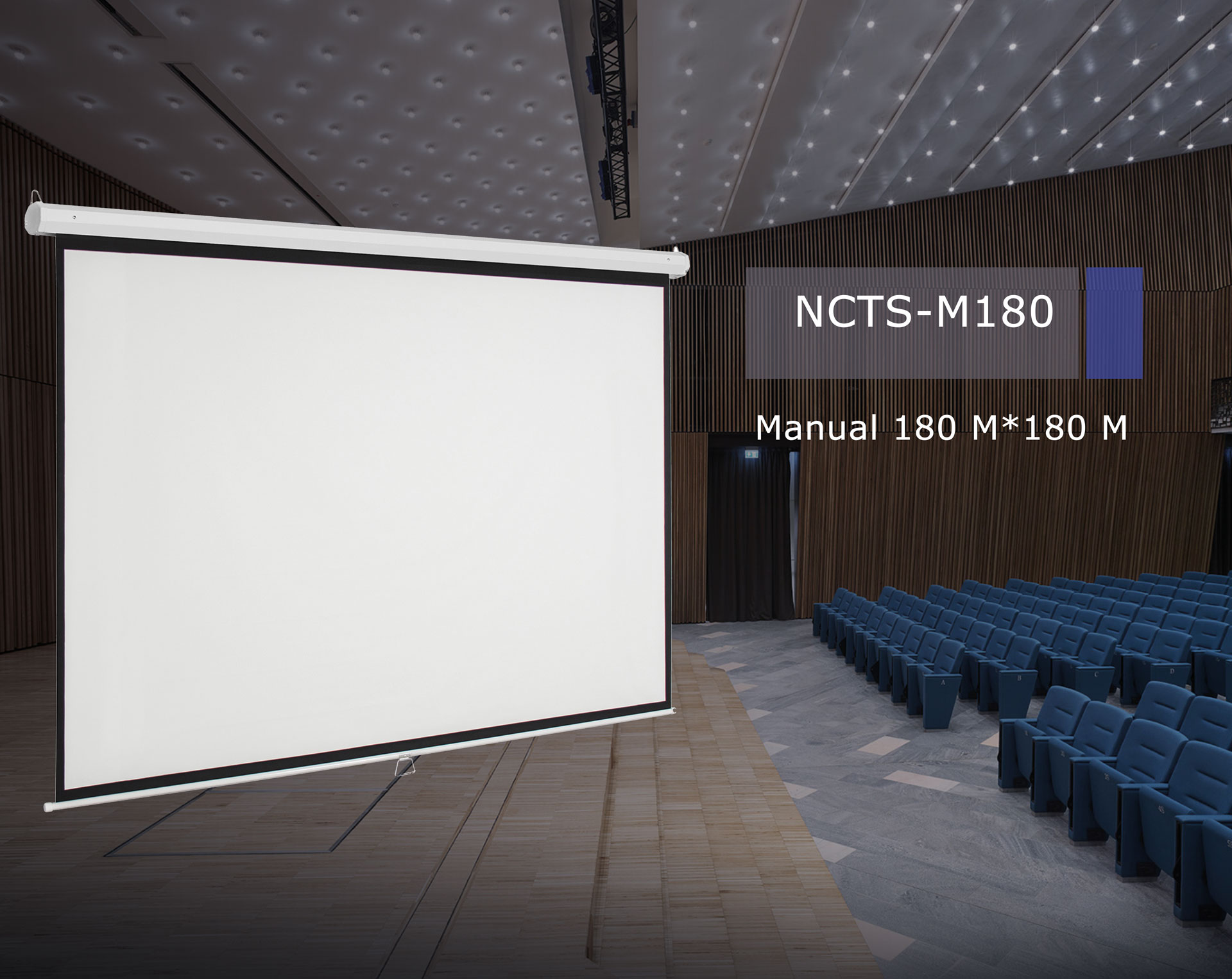 .NCTS MANUAL SCREEN FOR PROJECTOR 1.8M*1.8M MATTE 0.42MM