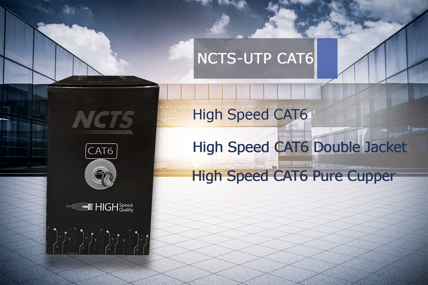 NCTS CAT 6UTP HIGH SPEED CABLE 305M PURE COPPER