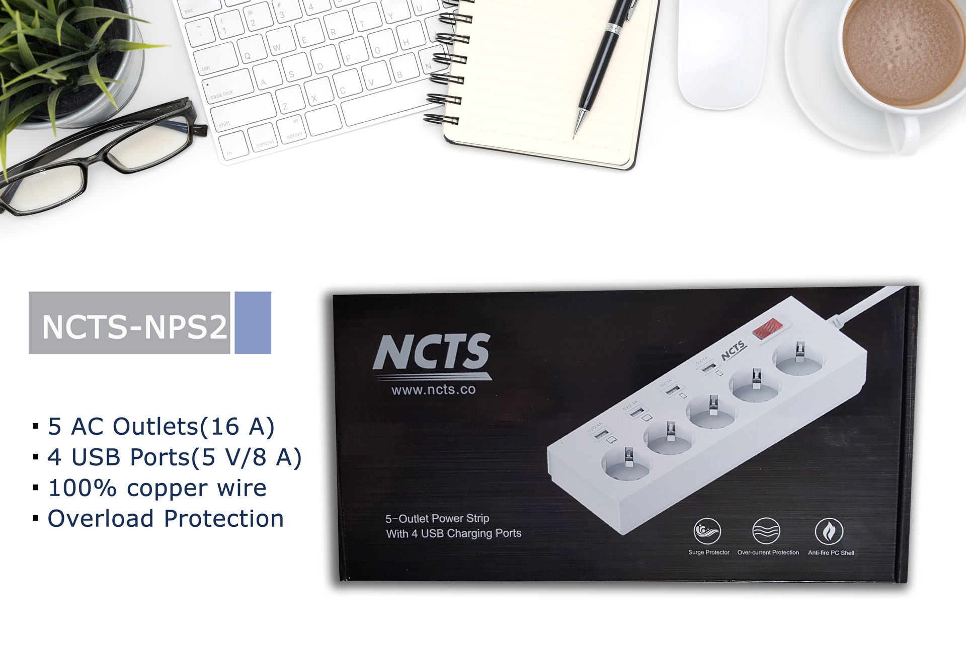 NCTS POWER STRIP NPS2 ( 1 YEAR WARRANTY)